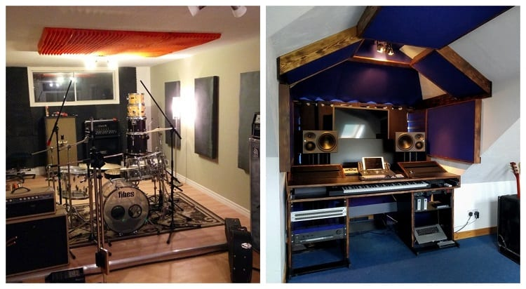 Home Studios In Basement and Attic