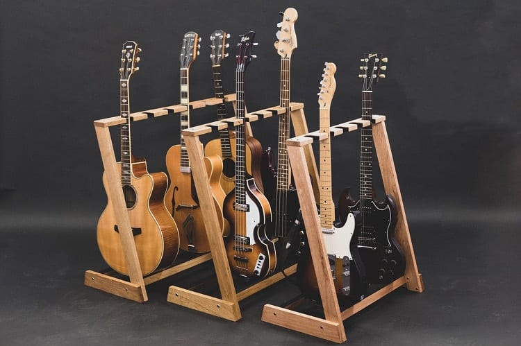 Guitars on Guitar Stands