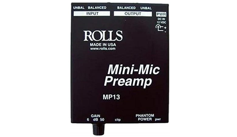 ROLLS MINI BLACK MICROPHONE PREAMP